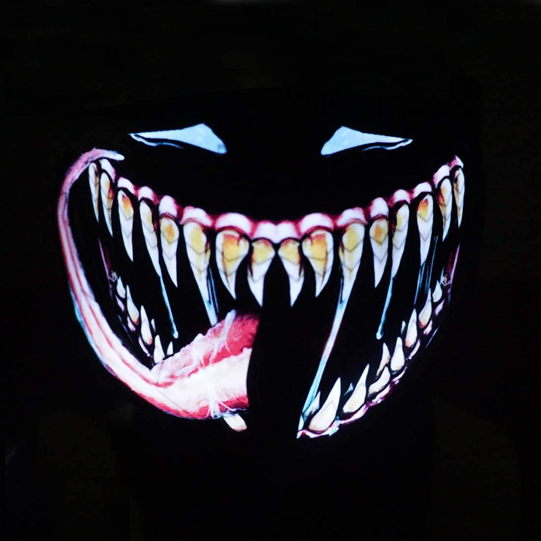 LED Mask Sound Reactive Light Up Mask for Party and Any Festival