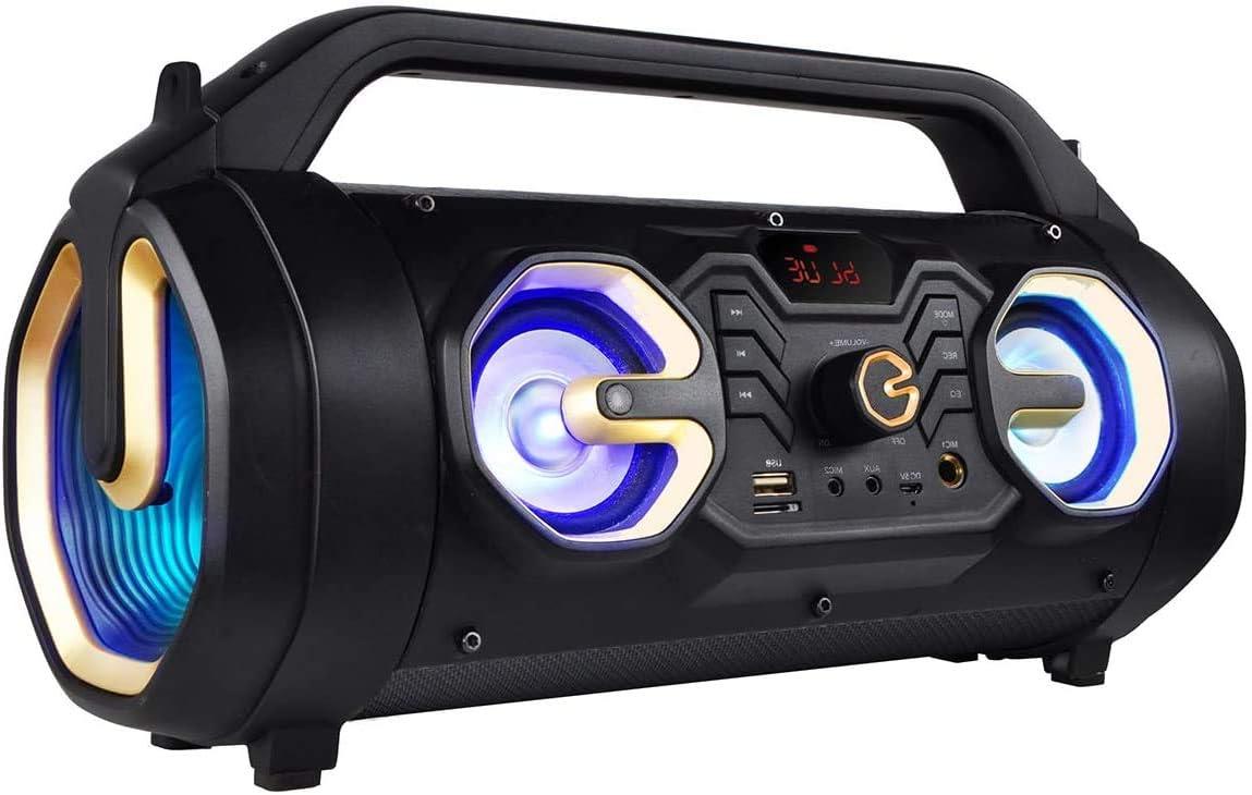 Boytone BT-16G Portable Bluetooth Boombox Speaker Deeper Bass