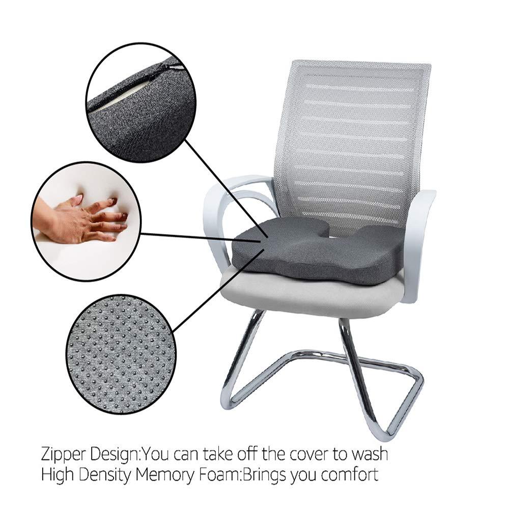 U-Shape Black Basics Memory Foam Seat Cushion
