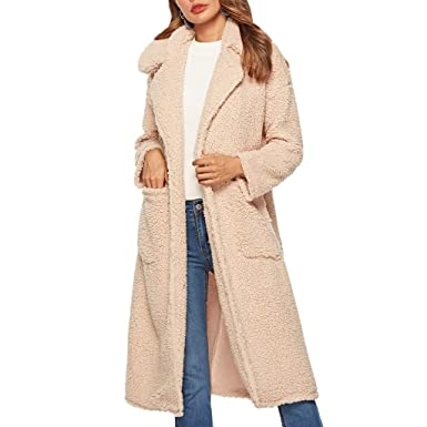 agreatvarietyofmodels special buy fashion style Teddy Bear Long Jackets for Women, NRUTUP Vegan Faux Fur ...