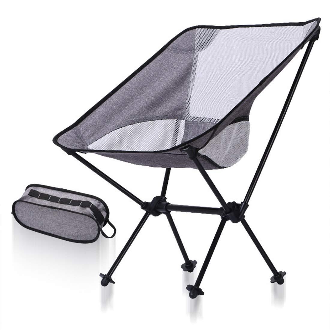FUBULECY Outdoor Stuhl Camping Stuhl Ultra Leichte Kompakte Montage Tragfähigkeit 150 kg Aluminiumlegierung Angeln Wandern Klettern Kirschblüte Feuerwerk Display Einfache Lagerung