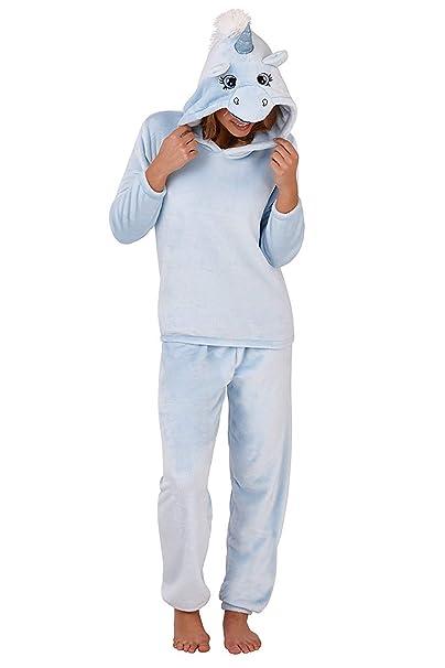 Loungeable Damen 3D Einhorn Zweiteiler Pyjama Set: