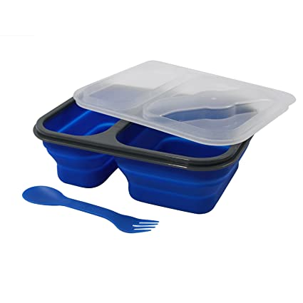 Amazon Com Universal Dual Compartment Collapsible Food Storage