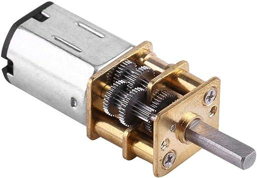 6V 10RPM Akozon N20 Motor de Engranajes Motor de Alto Par a Baja Velocidad DC 6V Relaci/ón de engranajes m/áx 1: 1000