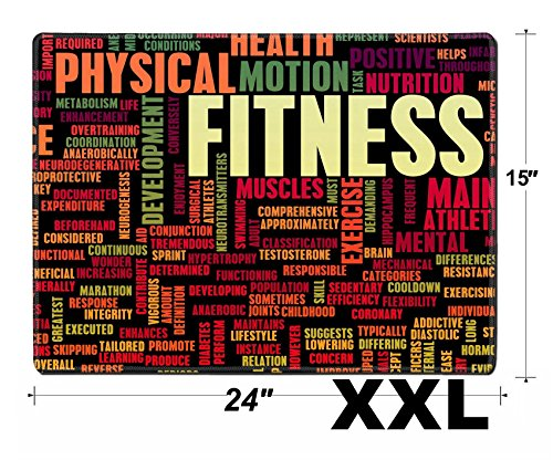 Price comparison product image MSD Extra Large Mouse Pad XXL Extended Non-Slip Rubber Large Gaming Desk Mat IMAGE ID 32303486 Fitness Concept for Weight Loss and Health
