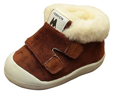 9786be6f68af4 Cloud kids Chaussure De Coton Mignon Chaud Épais Velours Chaussure De Coton  Marche Tout-Petit