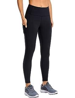 Amazon.com: CRZ YOGA Fleece Lined Leggings Women Winter Warm ...