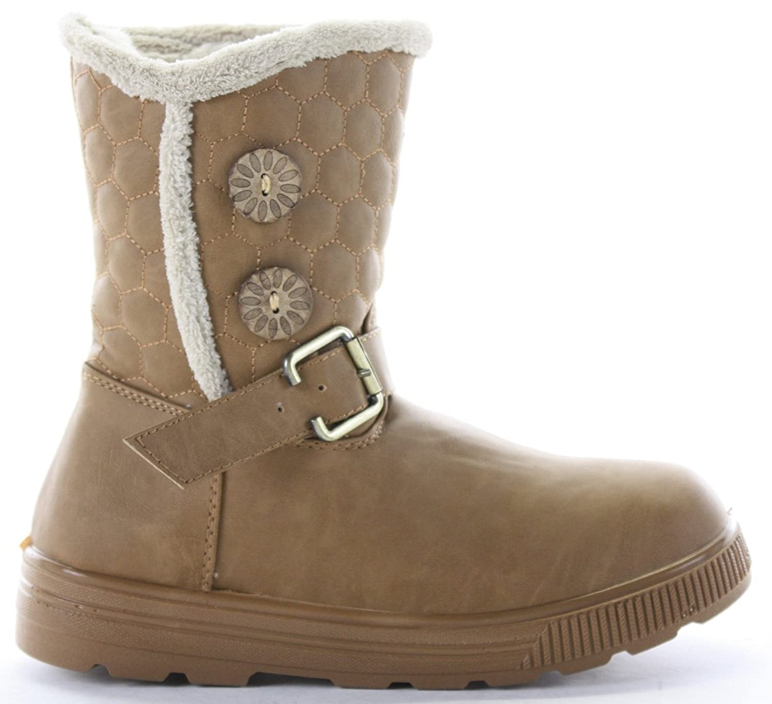 Winter Biker Riding Fur Lined Quilted Low Heel Snow Ankle Boots Size 3 - 8  new: Amazon.co.uk: Shoes & Bags