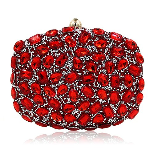 Party Shimmer Purses Handbags Clubs Red Clutch Handbag Rhinestone for For Women Wedding Bag Party Evening T1wnffzPq4