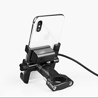 Aluminum Motorcycle Phone Holder Bicycle Bike MTB Handlebar Mount W/USB Charger for Cellphones for iPhone Xs Max XR XS X 7 8 Plus 6s 6 for Samsung Galaxy S9 S9+ S10 S10e S8 S7 S6 [5Bkhe0109292]