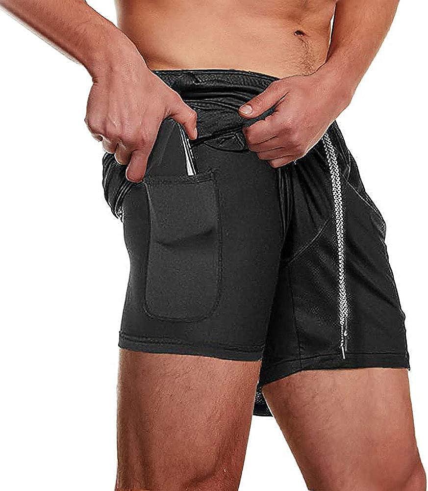 TAKIYA Men's Bodybudling Shorts Gym Workout Fitness Pants Running Mesh Jogger Flat Front Shorts with Pockets