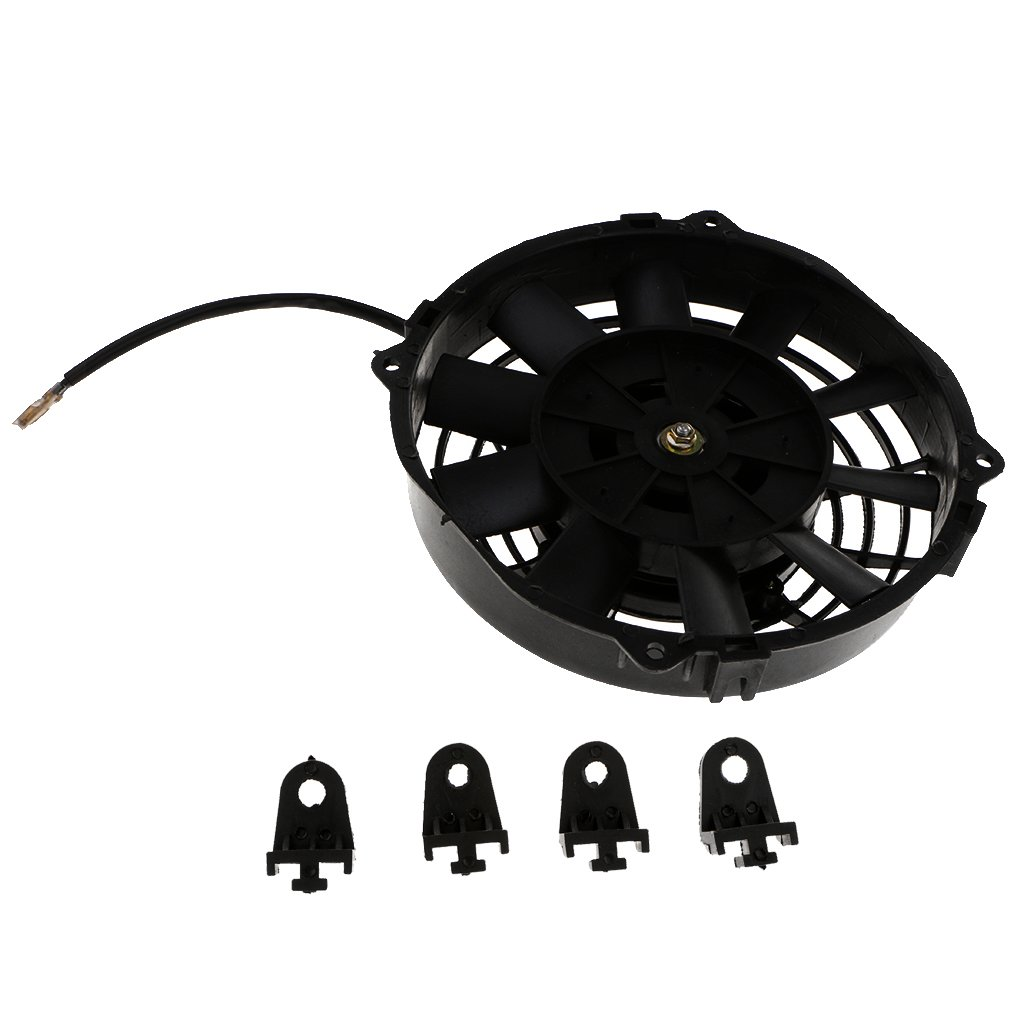 D DOLITY 8 inch Car Motorcycle Electric Radiator Cooling Fan 80W 12V for Universal