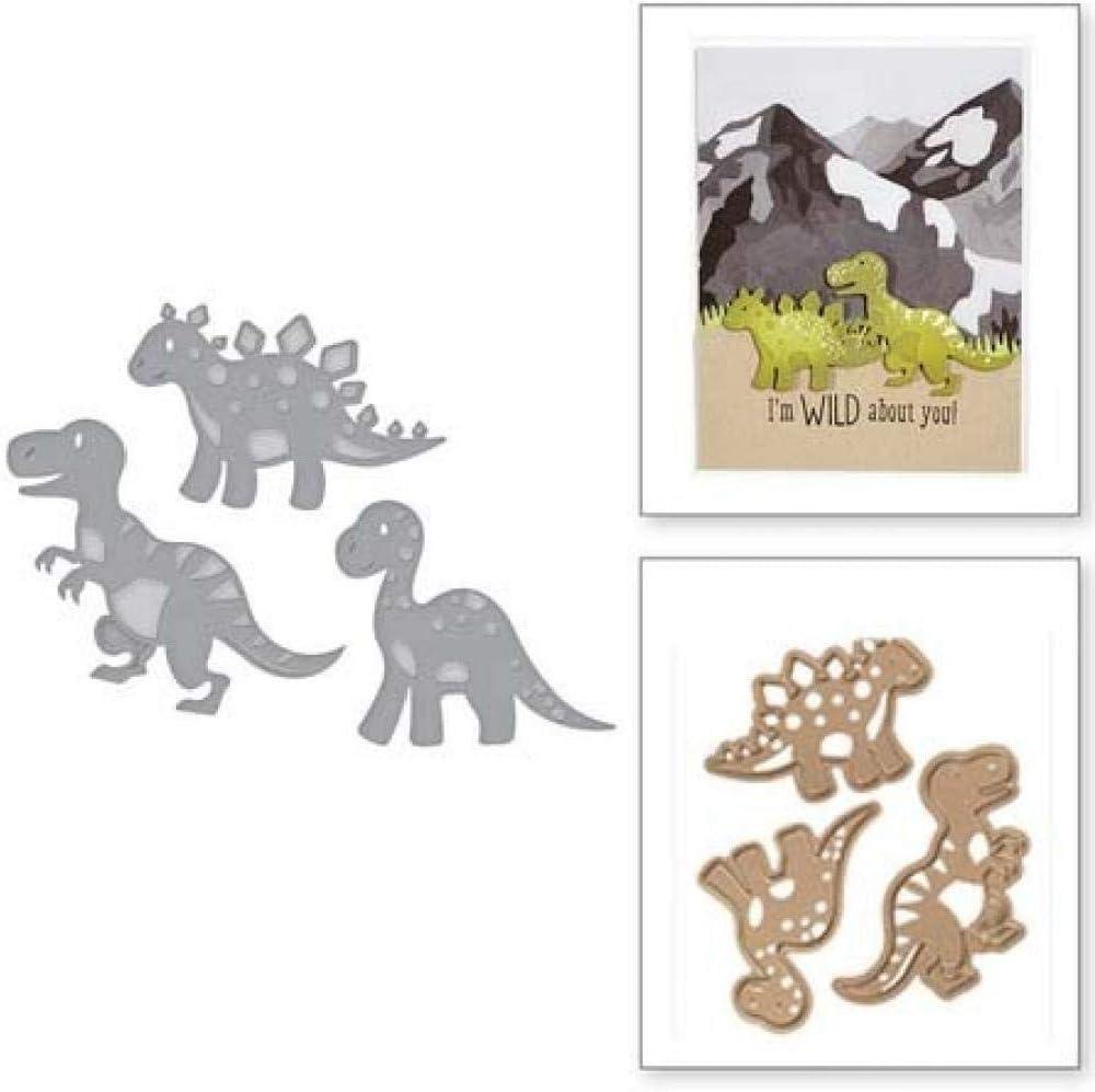 3pcs Metal Cutting Die Dinosaurs Embossing Stencils Scrapbooking Photo Album Paper Card Decorative Making Template