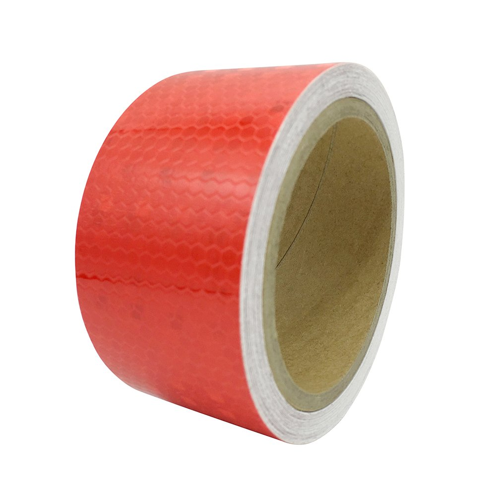 5cm Wide 2 Meters Length Honeycomb Adhesive Reflective Warning Tape Red White