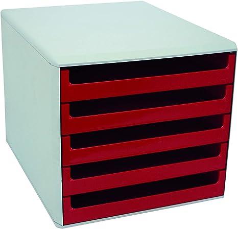 Rosso colore Metzger /& Mendle 30050906 Cassettiera con 5 cassetti