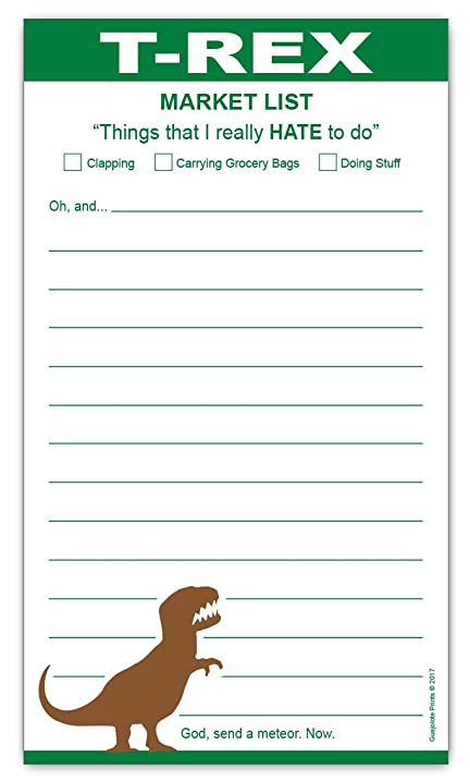 AmazonCom  Grocery List Magnet Pad  Funny TRex Shopping List
