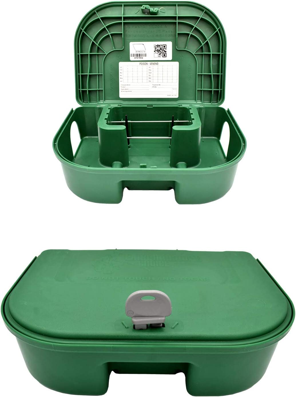 Exterminators Choice Bait Stations and One Key Included Bait Box Heavy Duty for Rats Mice and Other Pests Bait not Included…