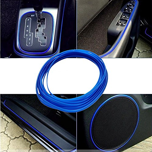 ATMOMO 5M Flexible Trim for DIY Automobile Car Interior Exterior Moulding Trim Decorative Line Strip (Dark Blue) ()