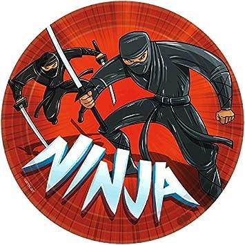 Amscan 551587 Ninja de 23 cm Platos de papel: Amazon.es ...
