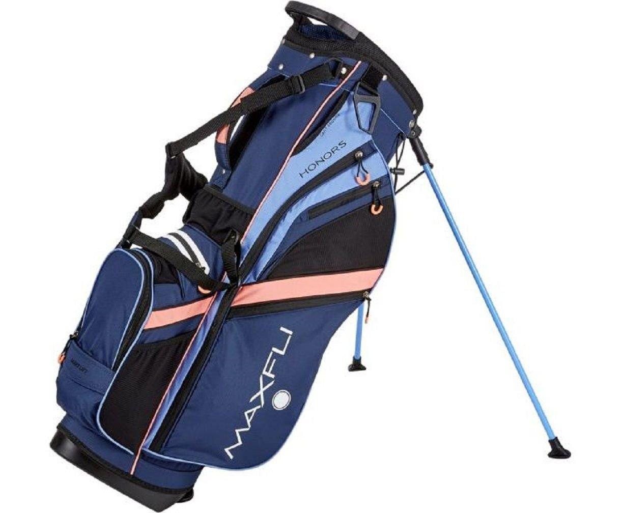 Maxfli Women's 2018 Stand Golf Bag - 6 Way - 8 Pockets - Navy/Coral/Purple