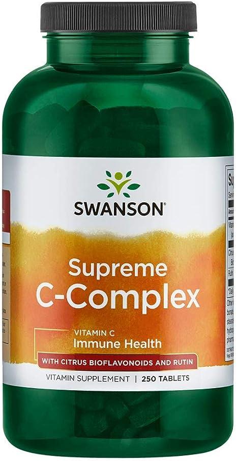 Swanson  Vitamin C mit Hagebuttenextrakt 1,000 mg 250 Kaps