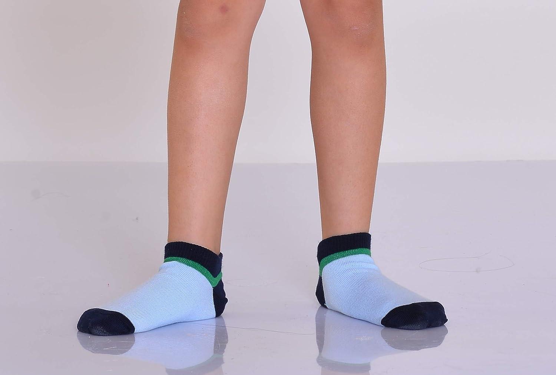 Suaves y muy c/ómodos Calcetines cortos de algod/ón Pack de 12 pares Para ni/ños y ni/ñas Disponibles en tallas de la 21 a la 36