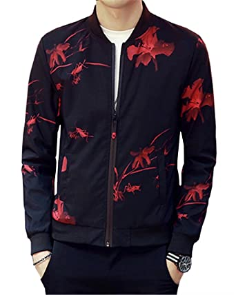 Emaor Mens Fashion Printed Slim Fit Jacket Coat At Amazon Men S