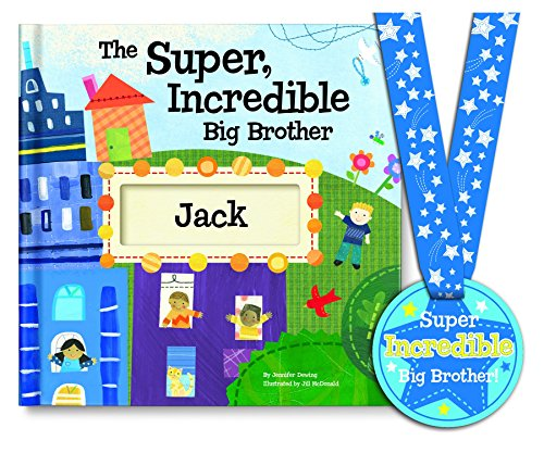 Super, Incredible Big Brother Personalized Book & Medal