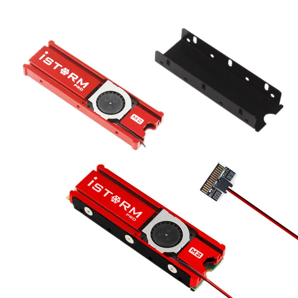 NVMe M.2 SSD Cooler Heatsinks with 20mm fan powerful cooling by Angel Mall (Image #2)