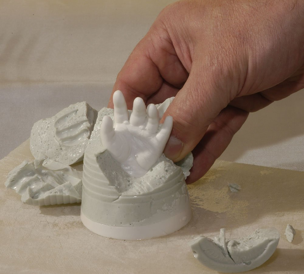 Newborns /& Babys 0-6 months 6 casts Handprint /& Footprint Lucky Hands 3D Baby Casting Kit