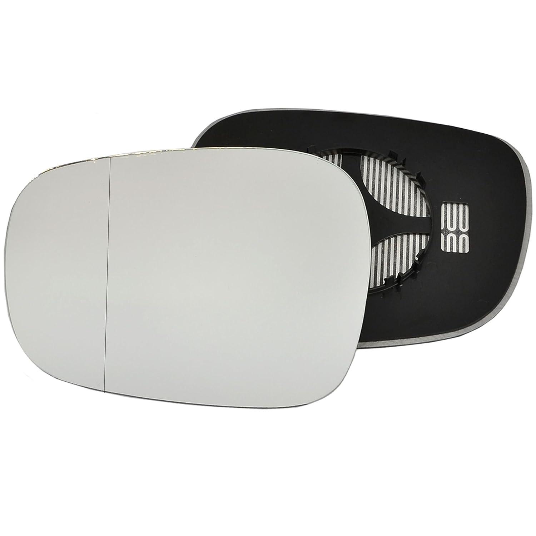 clip-on passeggero lato sinistro riscaldata anta vetro argento specchio con piastra di # w-shy//l-bwf2510/