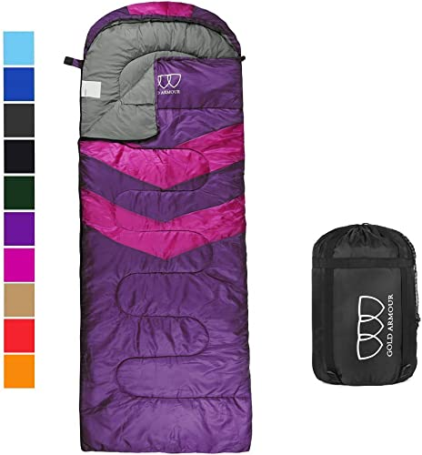 KingCamp Three-Season-Sleeping-Bags 3 Season Lightweight Comfort Portable Great for Adults Kids