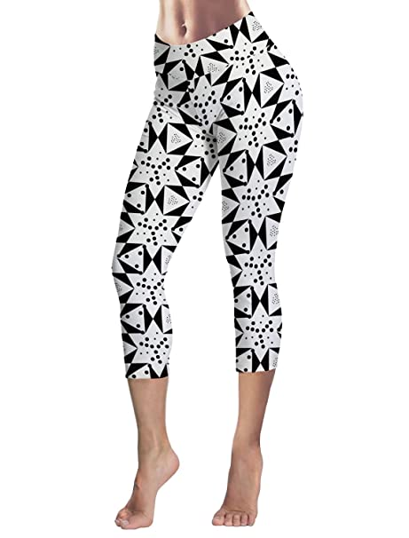 f8e0a5b79fb Capri Tights Running Workout Leggings Cropped Pants Abstract ...