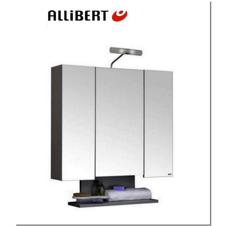 Allibert Bathroom Cabinets Allibert Alto Bathroom Cabinet 80cm Wood 3 Mirrored Doors And 6