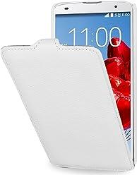 StilGut UltraSlim Case, custodia in vera pelle per LG G Pro 2, bianco