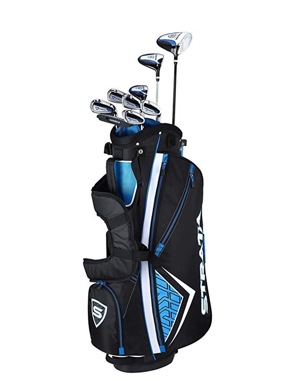 (カラウェイ)Callaway Men`s Strata Complete Golf Set (12 Piece) メンズ·ストラタ·コンプリート·ゴルフ·セット(12個)(並行輸入品) B07SMMPKRL Blue Current Generation