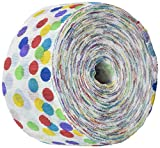 Amscan Fun-Filled Polka Dot Crepe Streamer Childrens Party (12 Piece), Rainbow, 81'