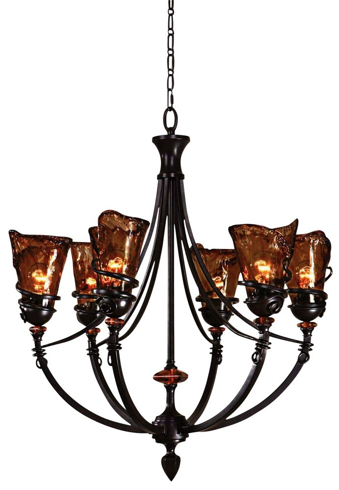 Uttermost 21227 Vitalia 6 Light Chandelier 29 125 X 32 Oil Rubbed Bronze Metal Com