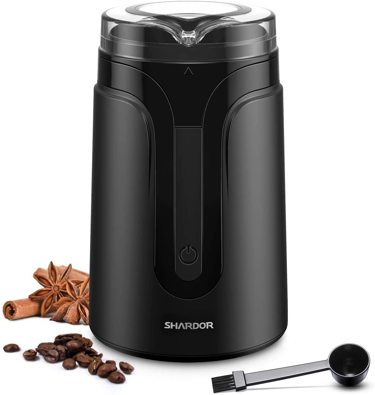 Sararoom Coffee Bean And Spice Grinder Mill 110V Low Noise DC Motor With Stainless Steel Body And Blades For Burr Spices Herbs And More Wisson Electric Coffee Grinder Coffee Bean Nuts