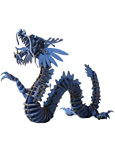Paper Maker 3D Jigsaw Puzzle Dragon DIY Craft Gifts Home Decoration (Small, blue)