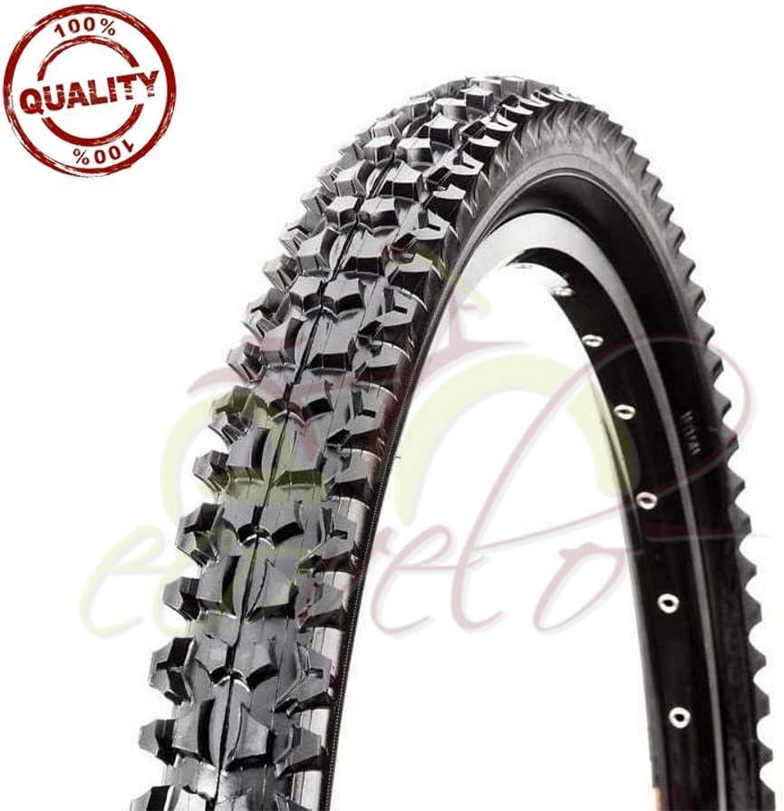 Union Rueda 26 x 2,125 MTB 57-559 Mountain Bike Goma neumático Negro rígido Bicicleta: Amazon.es: Deportes y aire libre