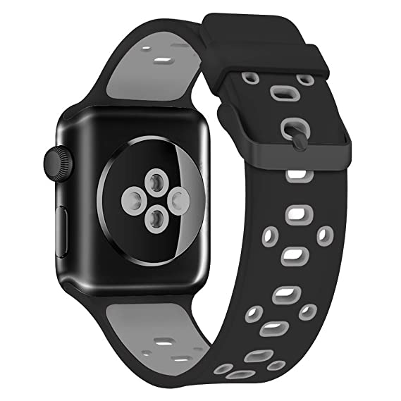 Smart Watch Sport Band 42mm, Viodo Soft Durable Breathable Silicone Replacement Strap Wristband with Quick Release Buckle for Apple iWatch Nike+, ...