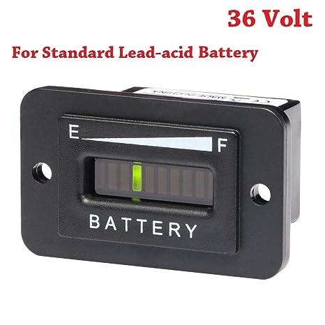 SEARON 36 Volt LED Battery Indicator Meter Gauge for Standard Lead on