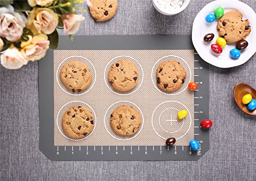4 Set Silicone Baking Mat – 3 Thick Half Sheet Liners(11 5/8'' x 16 1/2'') and 1 Quarter Sheet Liners (8 1/2'' x 11 1/2'') - Professional Grade Non Stick Silicon Liner for Bake Pans & Rolling by BAGAIL (Image #6)