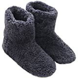 Mianshe 北欧 暖かい もこもこ ルームシューズ 男女兼用 足首まで暖かルームブーツ 冬用 防寒 ボアスリッパ (ブルー Lサイズ 27cmくらいまで)