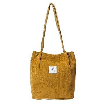 7b03e053c4f1c JAGENIE Damen Kord-Handtasche Schultertasche Tote Geldbörse Casual  Einkaufstasche