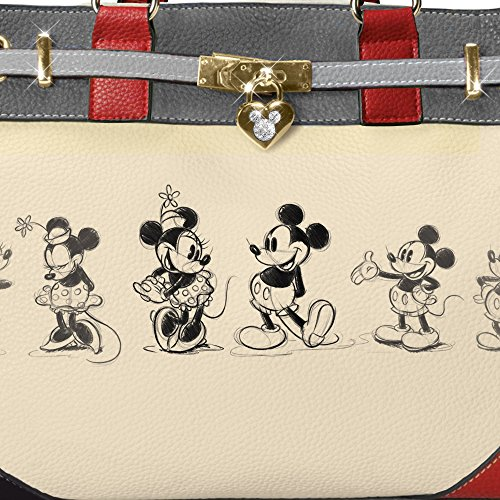 Mickey Handbag Story silhouette a locket Mouse a with featuring Mickey by charm The Mouse heart Bradford Exchange And Mouse Designer style Minnie Disney Love 8w05q5