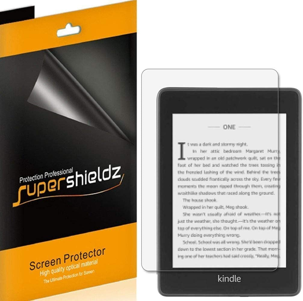 (3 Pack) Supershieldz for Kindle Paperwhite (10th Generation 2018 Release) Screen Protector, Anti Glare and Anti Fingerprint (Matte) Shield 616PXdkODCL