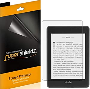 (3 Pack) Supershieldz Designed for Kindle Paperwhite (10th Generation 2018 release) Screen Protector, Anti Glare and Anti Fingerprint (Matte) Shield