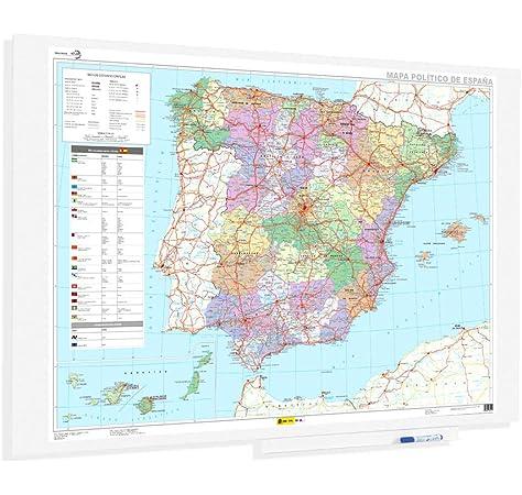 Faibo 153G - Mapa de España plastificado, sin marco: Amazon.es: Oficina y papelería
